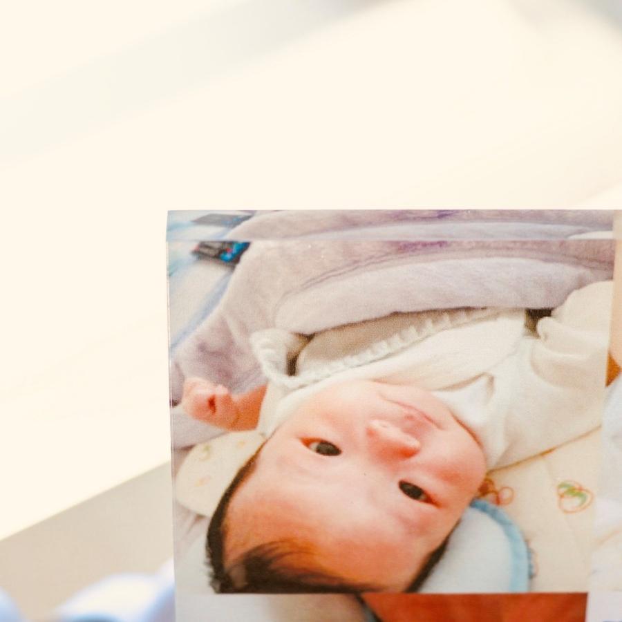 出産記念用アクリルフォトプレート 20x20x1cm (スタンド付) | ギフト 出産 記念|printplus|05