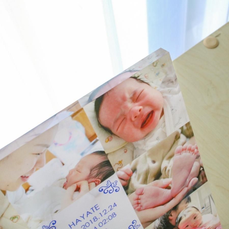出産記念用アクリルフォトプレート 20x20x1cm (スタンド付) | ギフト 出産 記念|printplus|08