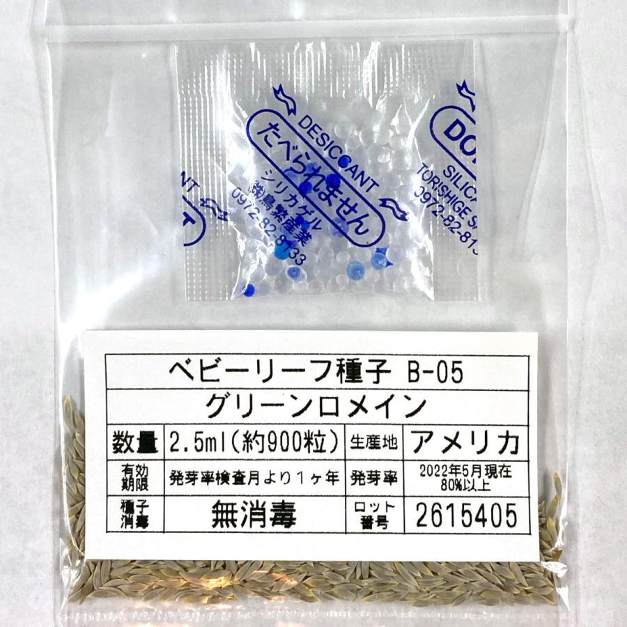 ベビーリーフ種子 B-05 グリーンロメイン 2.5ml|printstudio-jp|03
