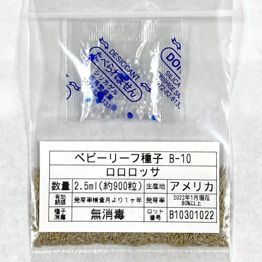 ベビーリーフ種子 B-10 ロロロッサ 2.5ml|printstudio-jp|03