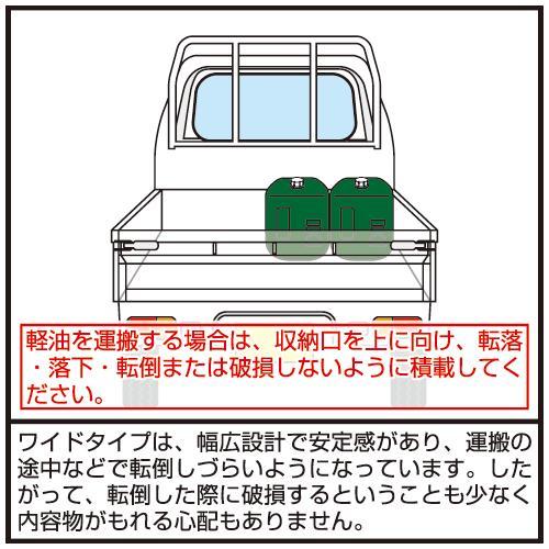 軽油缶 ポリタンク緑20Lワイド 消防法適合品 pro-yama 05
