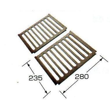 ロストル サナ 鋳物 LH缶用230×280 2枚組 長府製作所 pro-yama 02