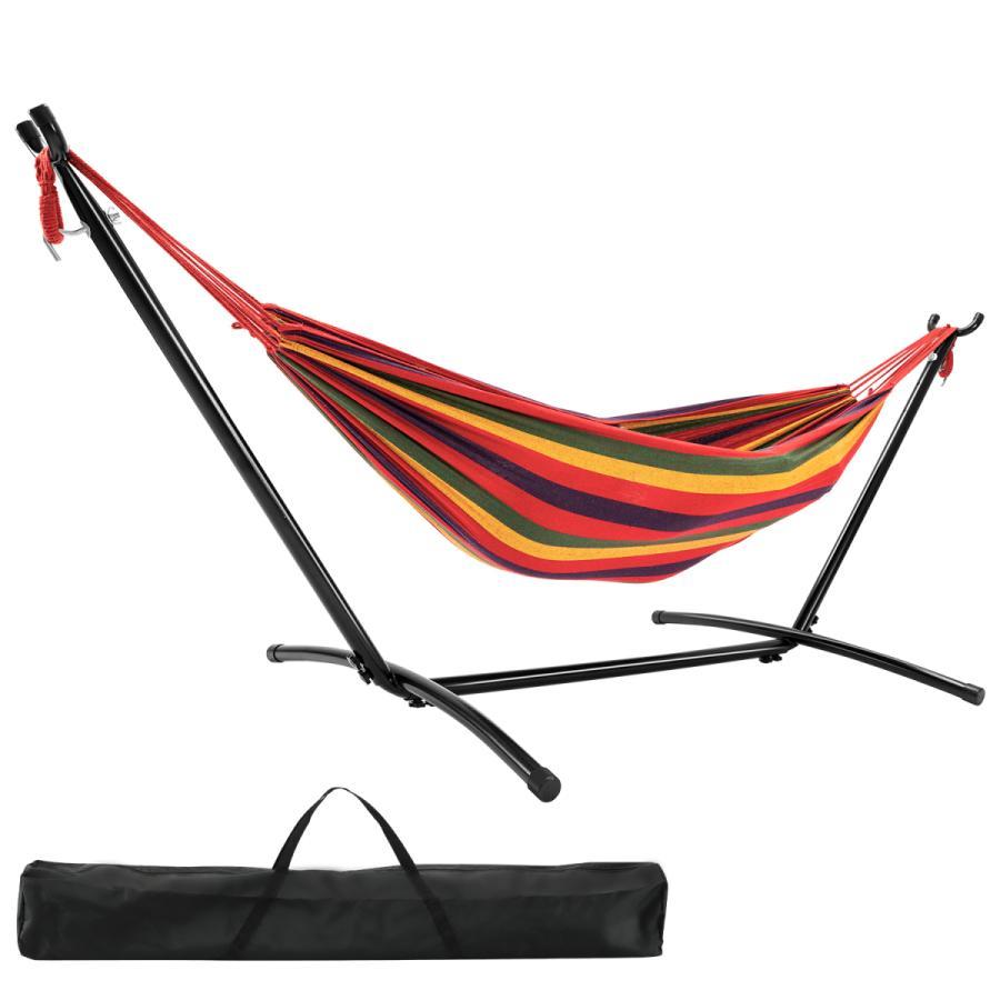 ハンモック 自立式 布製ハンモックセット スタンド付き 高さ調整可能 アウトドアハンモック 室内 キャンプ 屋外 キャンプ ハンモックチェア|probasto|10
