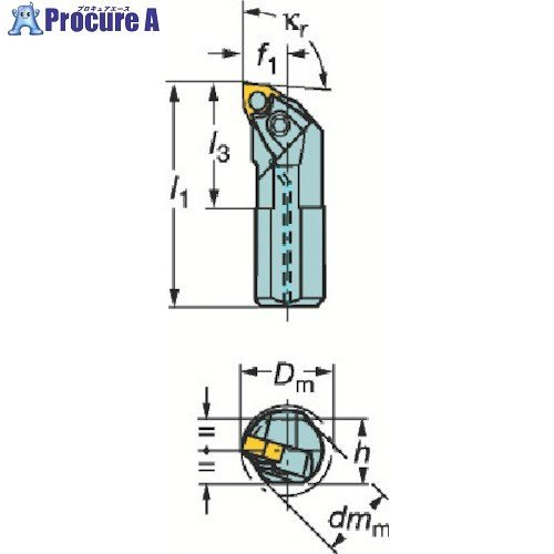 サンドビック T−Max P ネガチップ用ボーリングバイトA32U-MWLNR 08 ▼210-2552サンドビック(株)コロマントカンパニー