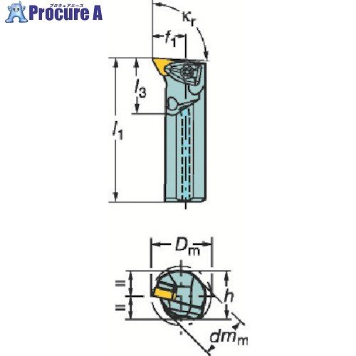 サンドビック コロターンRC ネガチップ用ボーリングバイトA40T-DDUNL 15 ▼359-2987サンドビック(株)コロマントカンパニー