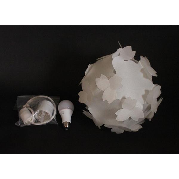 ペンダントライト - さくら色⇔電球色 LED・コード付 桜のカバーシェードランプ 本体組立出荷 - コハルライト|product-factory-jp|06