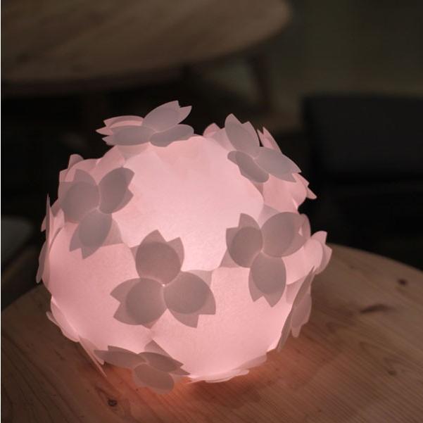 フロアライト テーブルランプ おしゃれ 照明器具 さくら色⇔電球色 LED電球付 本体組立出荷 - コハルライト|product-factory-jp|05