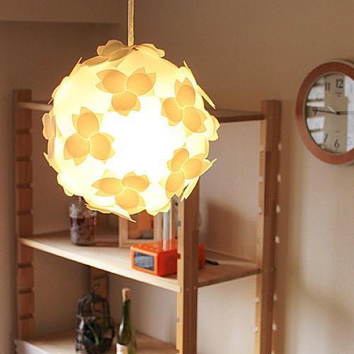 ペンダトライト 天井照明 - 北欧モダン和風和紙おしゃれ 電球付さくらカバーシェード - LED対応 組立式照明器具|product-factory-jp