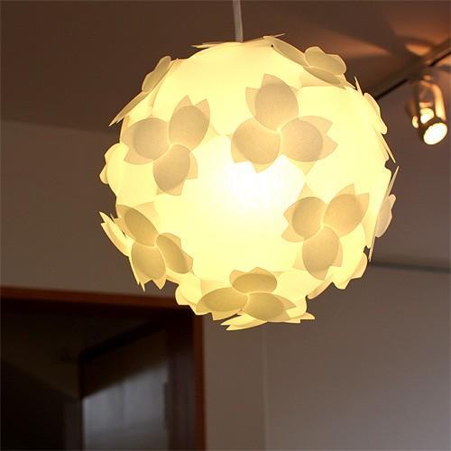 ペンダトライト 天井照明 - 北欧モダン和風和紙おしゃれ 電球付さくらカバーシェード - LED対応 組立式照明器具|product-factory-jp|02