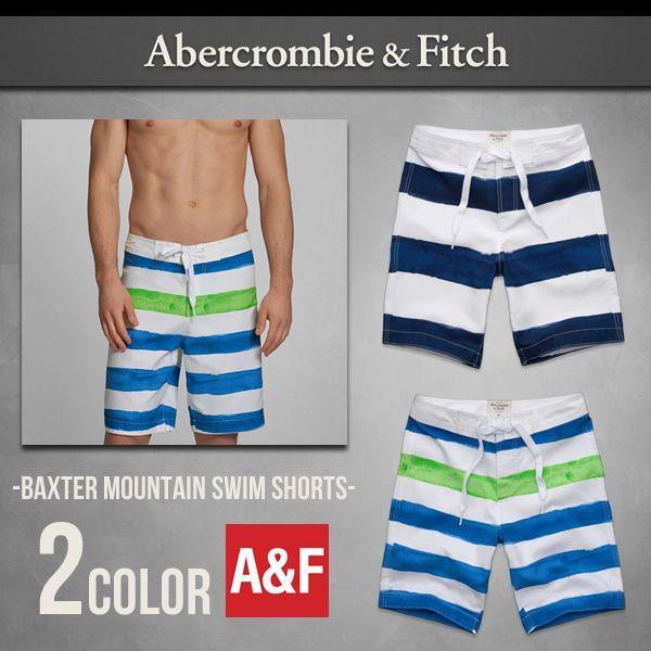 本物保証 アバクロ 水着 メンズ サーフパンツ BAXTER MOUNTAIN SWIM SHORTS Abercrombie&Fitch アバクロンビー&フィッチ アメカジ サーフ 正規品