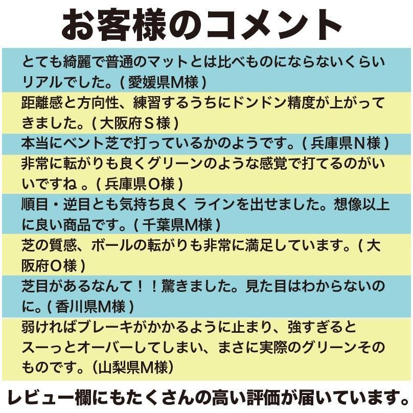 日本製 パターマット工房 45cm×5m SUPER-BENTパターマット 距離感マスターカップ付き progolf 15