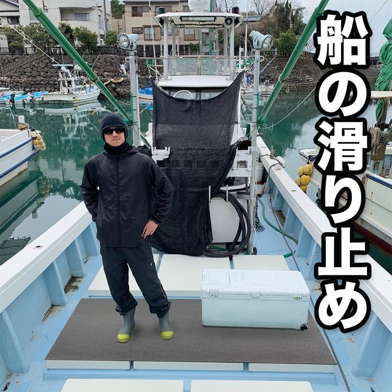 船の滑り止めマット 90cm×6m(グレー) (原反ロール)高規格6mm厚 安全用  デッキマット デッキシート 漁船 マリン PVC ゴムマット ノンスリップ|progolf|16
