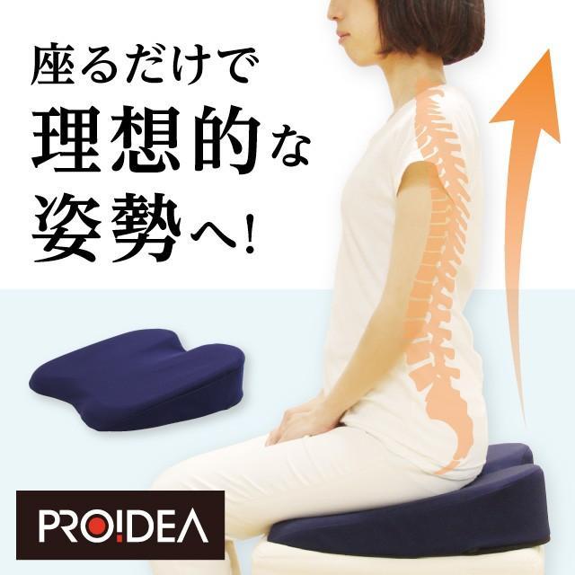 姿整快適クッション 姿勢 クッション オフィス デスクワーク 猫背 椅子 座椅子 プロイデア proidea 02