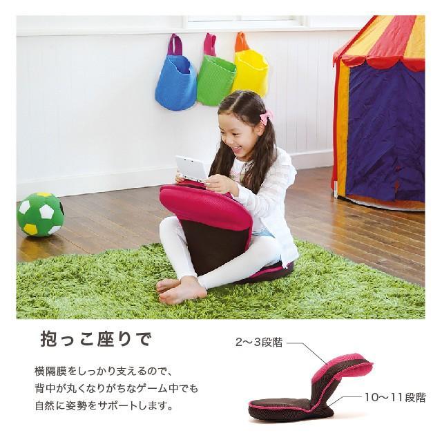 背筋がGUUUN 美姿勢座椅子 コンパクト 腰痛 姿勢 背筋 骨盤 リクライニング 受験 学習机 グーン こども用 幼児 小学生 プロイデア|proidea|10