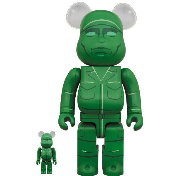 BE@RBRICK GREEN ARMY MEN 100% & 400%|project1-6