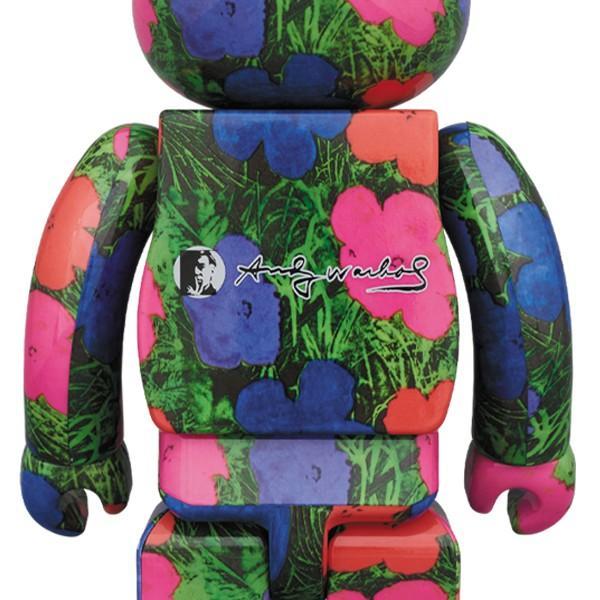 Medicom Toy Be@rbrick Bearbrick Andy Warhol Flowers 100/% /& 400/% Set