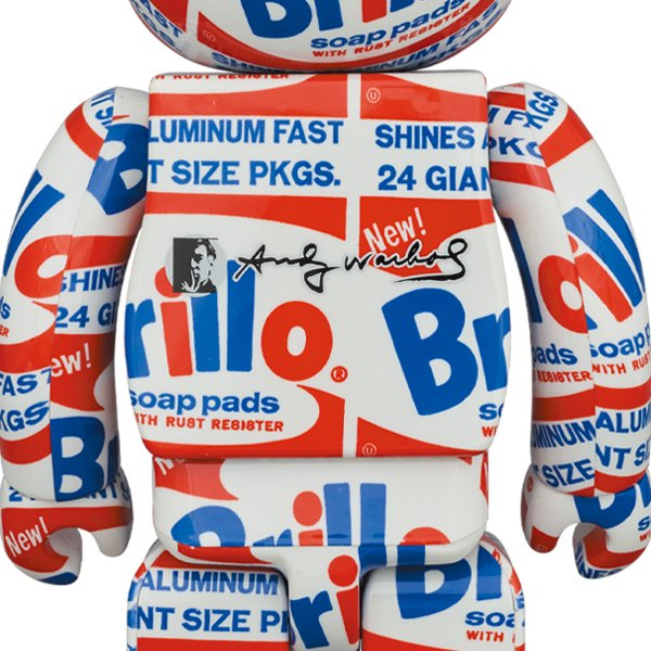 """BE@RBRICK ANDY WARHOL """"Brillo"""" 100% & 400%