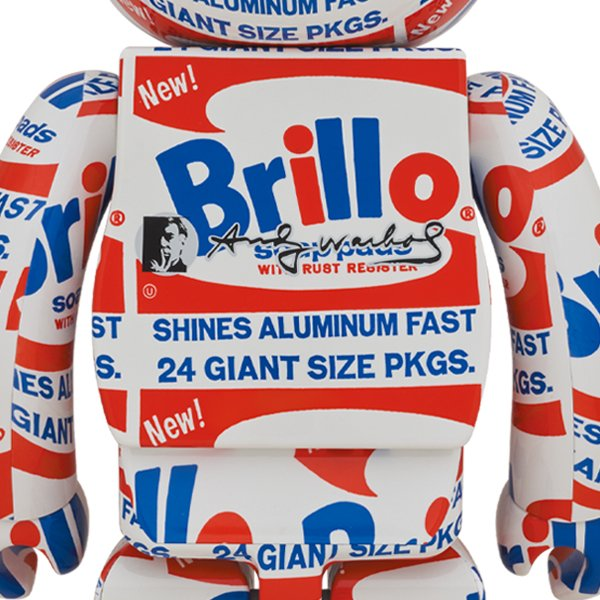 "BE@RBRICK ANDY WARHOL ""Brillo"" 1000%