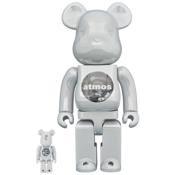 BE@RBRICK atmos WHITE CHROME Ver. 100% & 400% project1-6