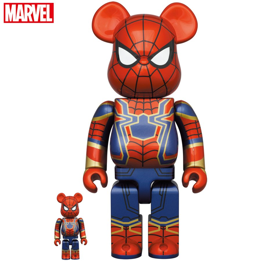 BE@RBRICK IRON SPIDER 100% & 400%|project1-6