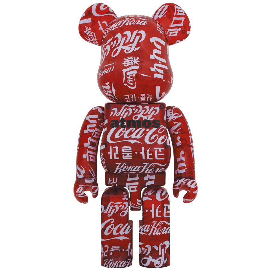 BE@RBRICK atmos × Coca-Cola CLEAR RED 1000%|project1-6
