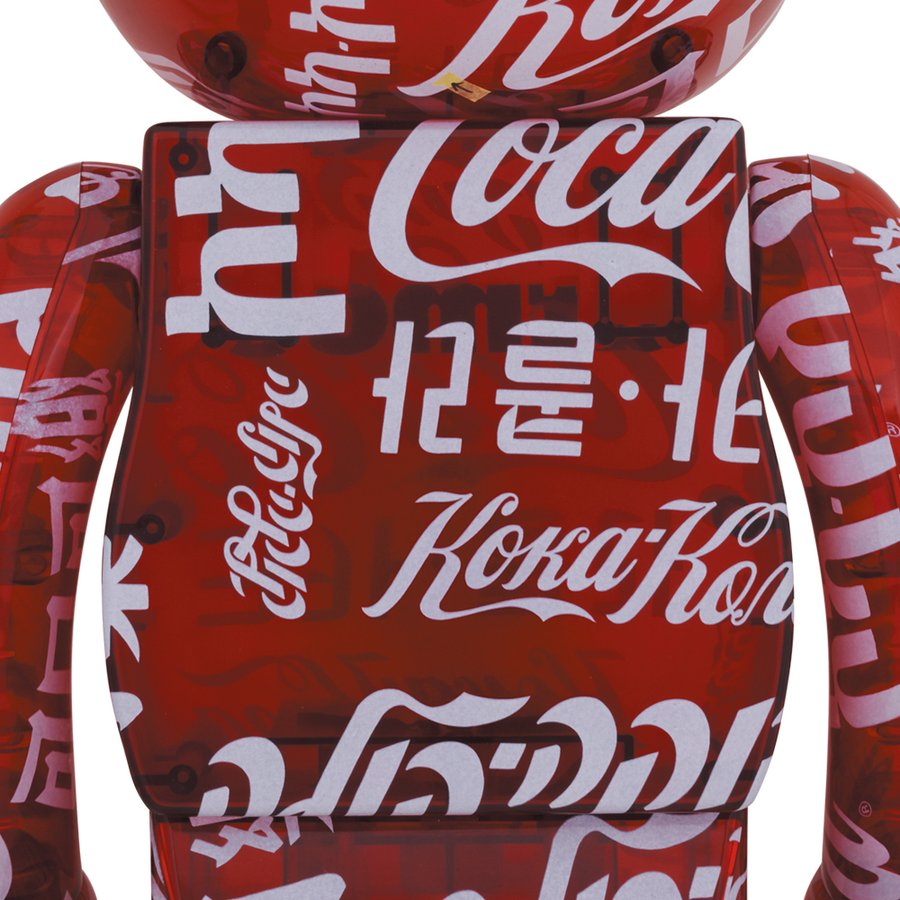 BE@RBRICK atmos × Coca-Cola CLEAR RED 1000%|project1-6|02