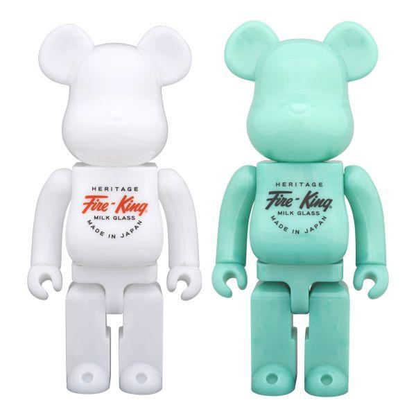 BE@RBRICK Fire-King 400%(WHITE / JADE-ITE) project1-6