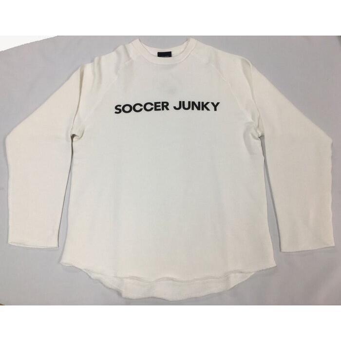 soccer junky/サッカージャンキー カットオフクルースウェット sj18172 ホワイト01、ブラック02、ヘザーグレー133