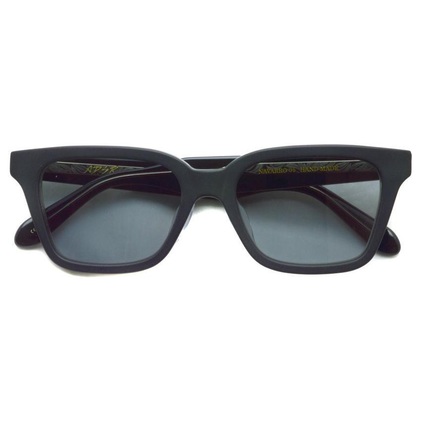 A.D.S.R. NAVARRO 05 ナヴァロ MATTE BLACK & CLEAR BLACK - Clear Gray ブラック&クリアブラック - クリアグレーレンズ  ウェリントン サングラス|props-tokyo|02