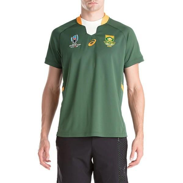 アシックス(asics)ラグビーウェア 半袖 Tシャツ(メンズ)スプリングボクスホームショートスリーブトップレプリカ(2111A167-300)2019SS