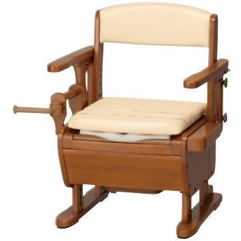 腰掛便座 家具調トイレセレクト ひじ掛けはねあげ ワイド幅 L ソフト便座