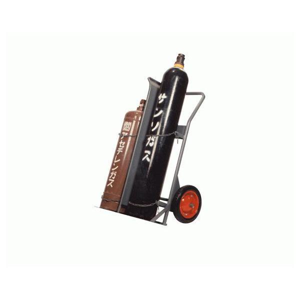 【送料都度見積もり品】フジ ハンドカー ボンベ台車 ガスボンベ運搬車 (ノーパンクタイヤ) FA-H型