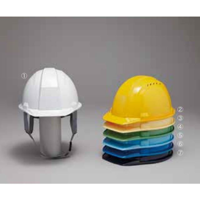 DIC A-01VK 作業用 ヘルメット(通気孔付き/ライナー入り)/  工事用 建設用 建築用 現場用 高所用 安全 保護帽 防災 軽い 軽量|proshophamada