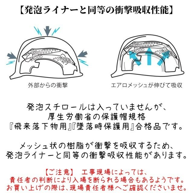DIC AA16-FVM エアロメッシュ 軽い 涼しい 作業用 ヘルメット(通気孔付き/エアロメッシュ)/ 工事用 作業用 建設用 建築用 現場用 高所用 安全 保護帽 軽量|proshophamada|07