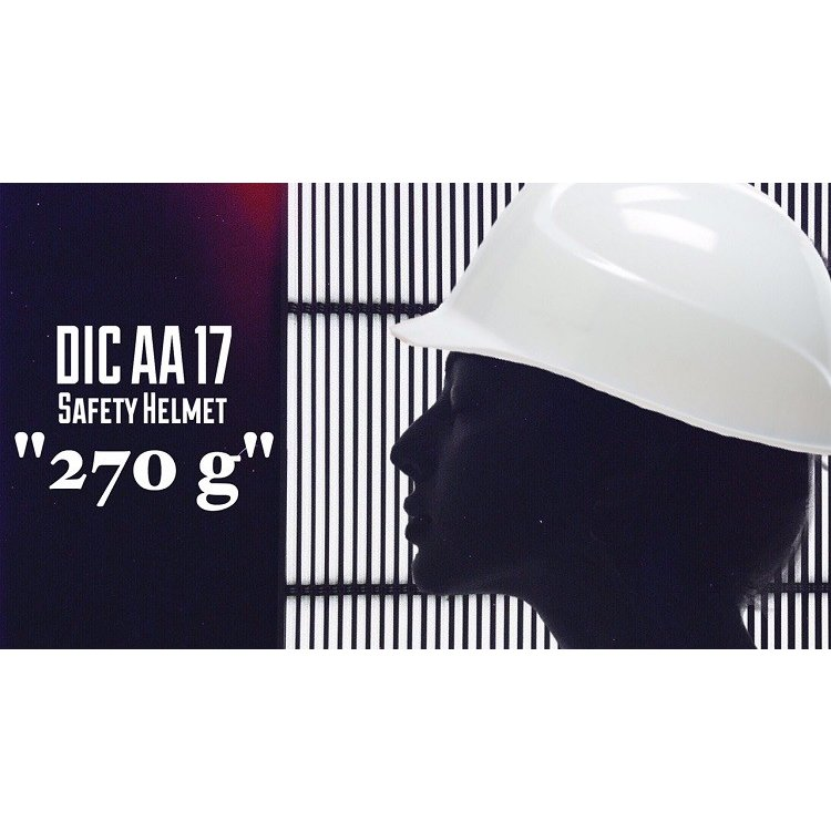 DIC AA17 軽神 超軽量 作業用 ヘルメット(通気孔なし/一体成型ライナー)/ 工事用 建設用 建築用 現場用 高所用 安全 保護帽 超軽い 最軽量 電気設備工事|proshophamada|09