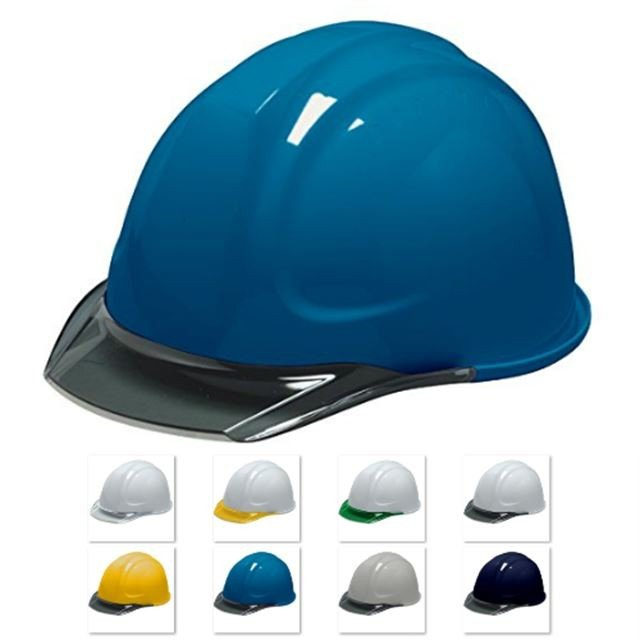 DIC SYA-CKP 透明ひさし 作業用 ヘルメット(通気孔なし/発泡ライナー)/ 工事用 建設用 建築用 現場用 高所用 安全 保護帽 電気設備工事 クリアバイザー|proshophamada