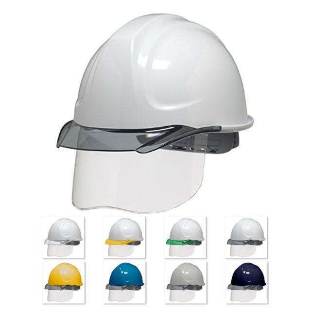 DIC SYA-CSKP コンパクトシールド面付 作業用 ヘルメット(通気孔なし/発泡ライナー)/ 工事用 建設用 建築用 現場用 高所用 安全 保護帽 電気設備工事|proshophamada