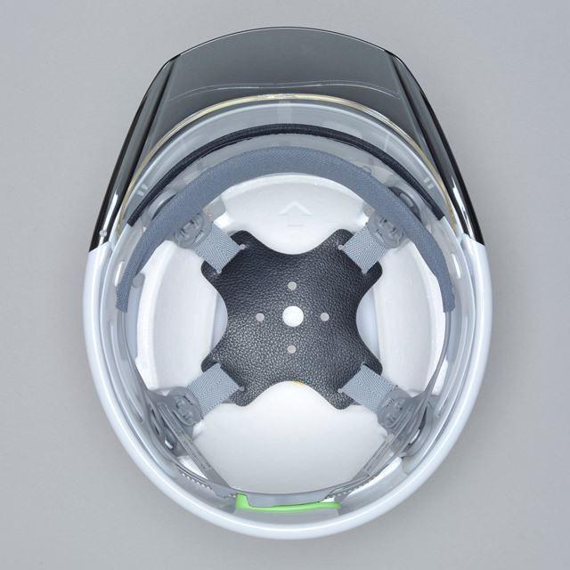 DIC SYA-CSKP コンパクトシールド面付 作業用 ヘルメット(通気孔なし/発泡ライナー)/ 工事用 建設用 建築用 現場用 高所用 安全 保護帽 電気設備工事|proshophamada|02
