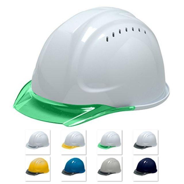 DIC SYA-CVKP 透明ひさし 作業用 ヘルメット(通気孔付き/発泡ライナー)/ 工事用 建設用 建築用 現場用 高所用 安全 保護帽  クリアバイザー|proshophamada