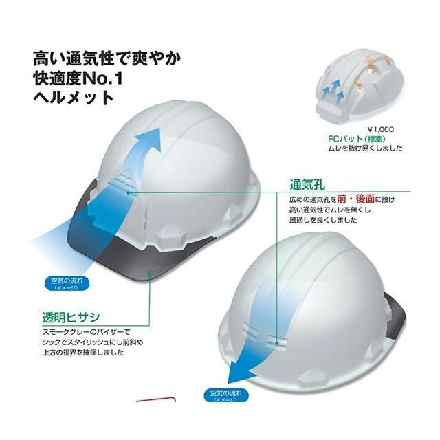 加賀産業 GS-33VK(FP-3F) 透明ひさし 作業用 ヘルメット(通気孔付き/ライナー入り)/  工事用 作業用 建設用 建築用 現場用 高所用 安全 保護帽 proshophamada 02