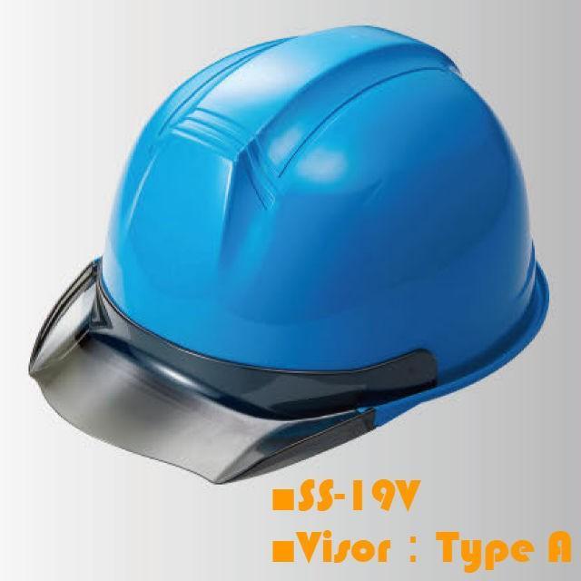 進和化学工業 SS-19型T-P式RA 透明ひさし 作業用 ヘルメット(通気孔なし/ライナー入り)/  工事用 作業用 建設用 建築用 現場用 高所用 安全 保護帽|proshophamada|02