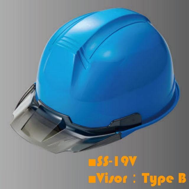 進和化学工業 SS-19型T-P式RA 透明ひさし 作業用 ヘルメット(通気孔なし/ライナー入り)/  工事用 作業用 建設用 建築用 現場用 高所用 安全 保護帽|proshophamada|03