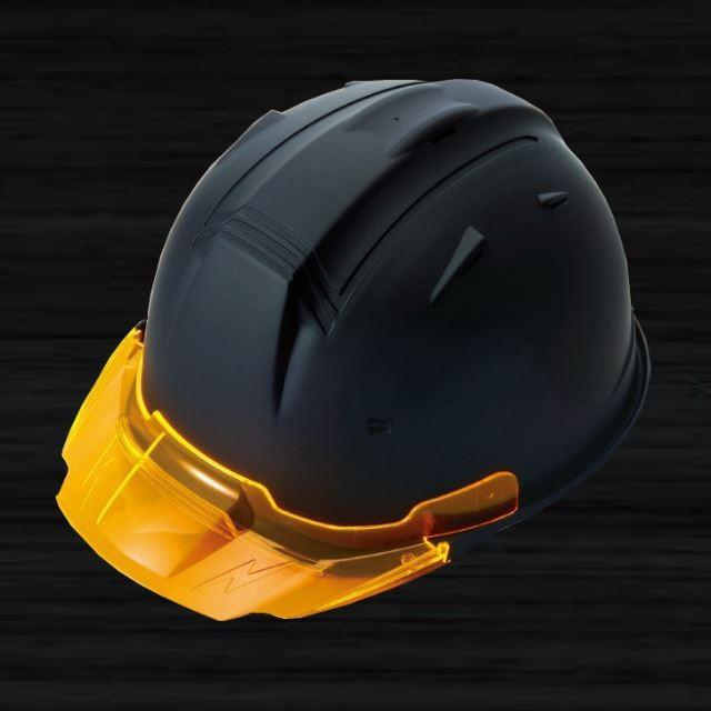 【5個セット】進和化学工業 SS-19V型T-P式RA ツヤ消し マット塗装 透明ひさし 作業用ヘルメット(通気孔付き/ライナー入り)/  工事用 作業用 建設用 建築用|proshophamada|02