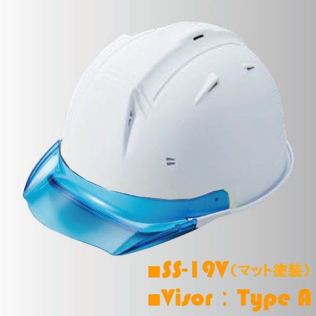 【5個セット】進和化学工業 SS-19V型T-P式RA ツヤ消し マット塗装 透明ひさし 作業用ヘルメット(通気孔付き/ライナー入り)/  工事用 作業用 建設用 建築用|proshophamada|06