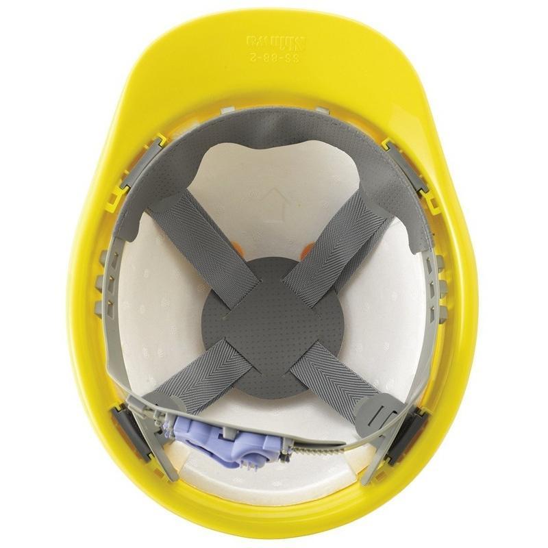 進和化学工業 SS-88-2型T-P式R 作業用 ヘルメット(通気孔なし/ライナー入り)/ 工事用 作業用 建設用 建築用 現場用 高所用 安全 保護帽 電気設備工事|proshophamada|05