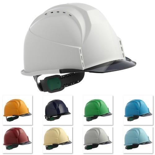 スミハット KKC3-B 透明ひさし 作業用 ヘルメット(通気孔付き/ライナー入り)/ 工事用 建設用 建築用 現場用 高所用 安全 保護帽 クリアバイザー proshophamada