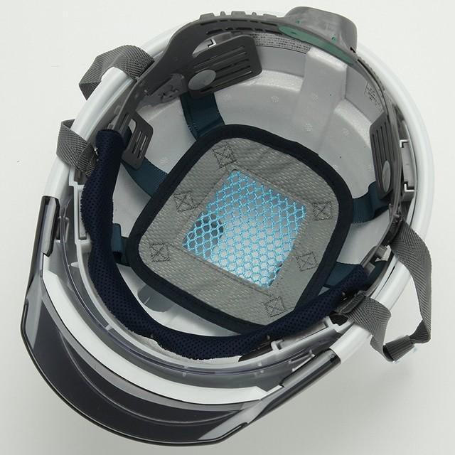 スミハット KKC3S-B-NCOOL Nクール 遮熱 練込 大型シールド面付 作業用 ヘルメット(通気孔付き/ライナー入り)/ 夏 熱中症対策 安全 工事用 建設用 建築用|proshophamada|05