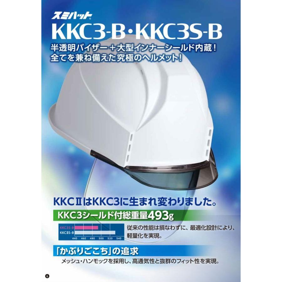 スミハット KKC3S-B-NCOOL Nクール 遮熱 練込 大型シールド面付 作業用 ヘルメット(通気孔付き/ライナー入り)/ 夏 熱中症対策 安全 工事用 建設用 建築用|proshophamada|06