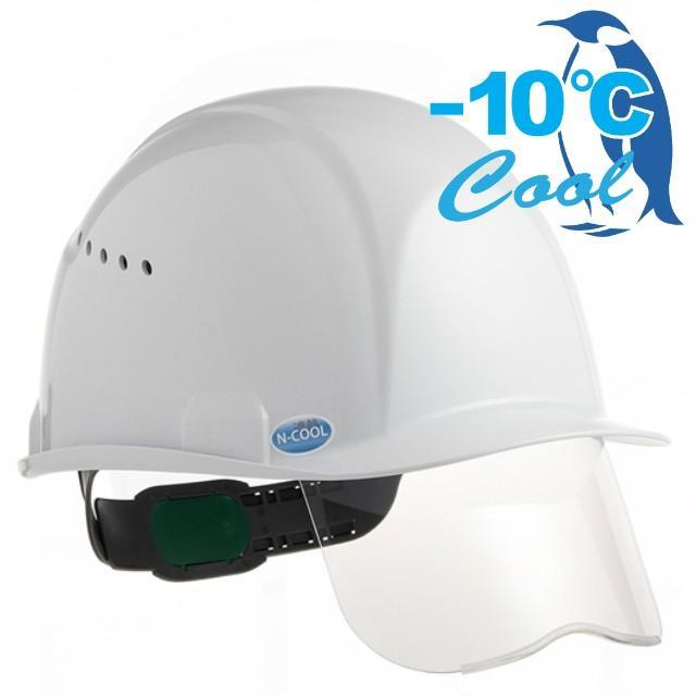スミハット  SAXCS-B-NCOOL Nクール 遮熱 練込み シールド面付き 作業用 ヘルメット(通気孔付き/ライナー入り)/ 夏 熱中症対策 安全 工事用 建設用 高所用|proshophamada