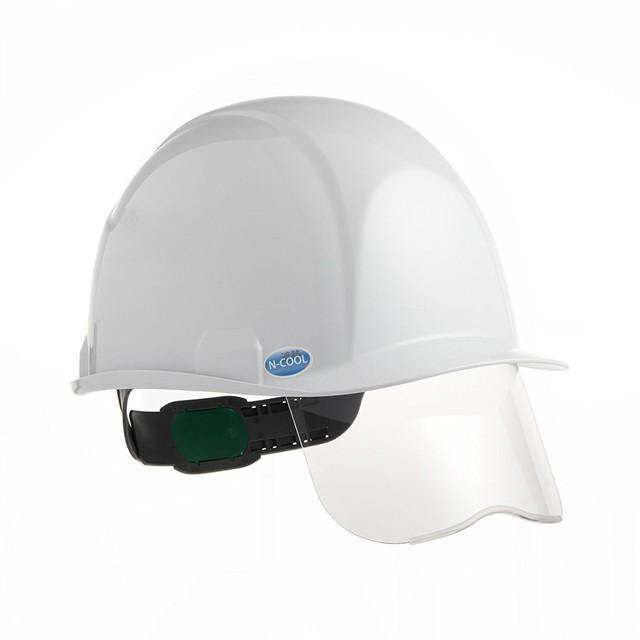 スミハット SAXS-B-NCOOL Nクール 遮熱 練込 シールド面付き 作業用 ヘルメット(通気孔なし/ライナー入り)/ 夏 熱中症対策 工事用 建設 高所用 電気設備工事|proshophamada|02